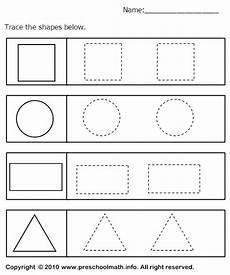 tracing geometric shapes worksheet table time shape worksheets for preschool preschool