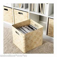 Ikea Bullig Bamboo Box Storage Basket Fit Kallax Besta
