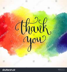 rainbow thank you card template watercolor painted rainbow background thank you card