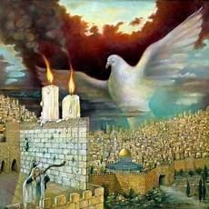 israel rubinstein dove of peace art painting gallery