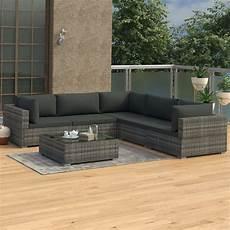 lounge set garten vidaxl 6 tlg garten lounge set mit auflagen poly rattan