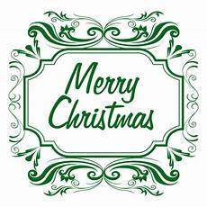 merry christmas green label transparent png svg vector