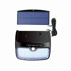 waterproof 28 38 48 led solar panel power light pir motion
