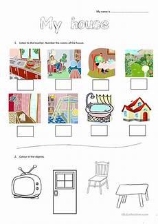 worksheets rooms 19037 my house worksheet for learners worksheet free esl printable worksheets made by teachers