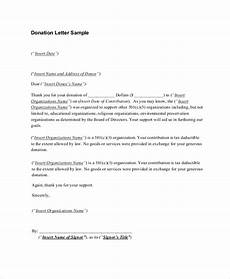 free 7 sle donation receipt letter templates in pdf