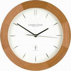 buy london clock company contemporary radio controlled wall clock in light wood from our clocks