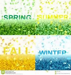 Vier Jahreszeiten Malvorlagen Text Vier Jahreszeiten Text Serie Stock Abbildung
