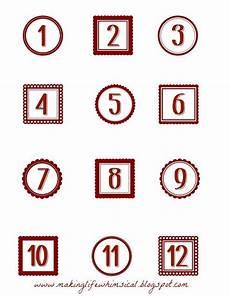 Free Advent Calendar Numbers Printable