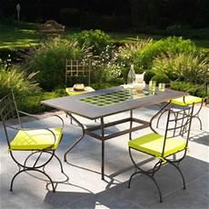 table jardin fer forgé table de salon de jardin en fer forg 233 mailleraye fr jardin