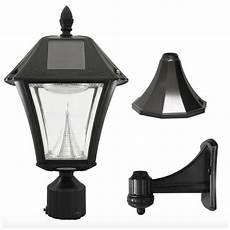 solar led black outdoor street pole wall light l lighting fixture ebay