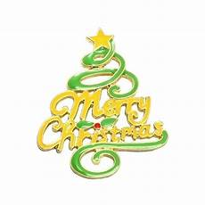 2016 new design yellow green enamel epoxy christmas tree with merry christmas words large