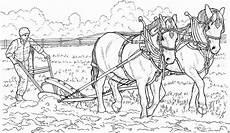 Malvorlagen Bauernhof Gratis Pferde Ziehen Pflug Ausmalbild Malvorlage Bauernhof