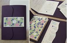 custom wedding invitation bilingual booklet pocket