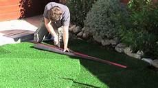 pose de gazon synthétique pose de gazon synth 233 tique gardengrass