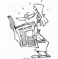newspaper colouring pages 17708 vector of a reading shocking news coloring