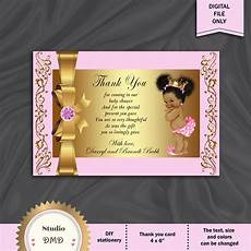 printable baby shower thank you card little princess royal etsy