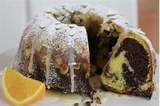 Spanischer Orangen Gugelhupf Saftiger Marmorkuchen