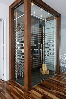 Glass Wine Cellar In The Living Room 3 Contemporary