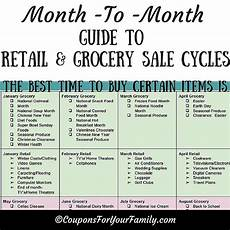 whens the best time to buy a month to month guide to retail grocery sale cycles