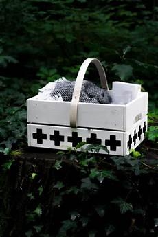 Picknickkorb Aus Obstkiste Basteln Mit Lederdetails