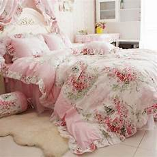 fadfay home textile pink rose floral print duvet cover bedding set for girls 4 p ebay