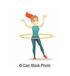 Hula Hoop übungen - hula hoop illustrationen und clip 433 hula hoop