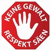 German Language Stop Sign Keine Gewalt Respekt S&228en