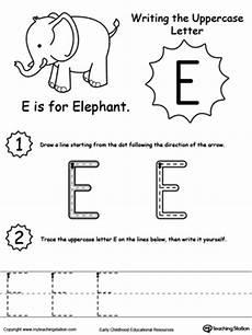 identifying letter e worksheets 24108 kindergarten letters printable worksheets myteachingstation