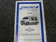 old car owners manuals 1994 chevrolet sportvan g20 windshield wipe control 1994 chevy g20 starcraft conversion van owner operator manual user guide diesel ebay