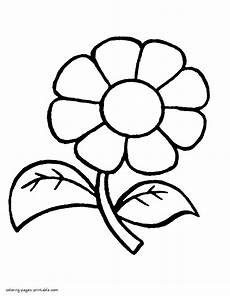 easy nature coloring pages 16364 flower to easy color by at kindergarten coloring pages printable