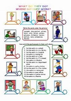what do they do where do they work esl worksheet by maripa