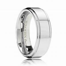 baltimore polished step edge best tungsten wedding ring 6mm 8mm
