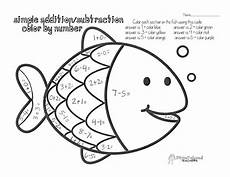 free subtraction color by number worksheets 16323 color by number simple addition subtraction fish coloring page coloring pages