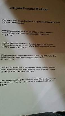 solved colligative properties worksheet what mass of wate chegg com
