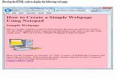 solved develop the html code to display the following web chegg com