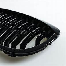 front grille kidney gloss black for bmw 3er e46 coupe