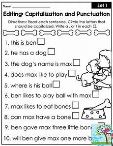 capitalization and punctuation editing worksheets 20756 133 best grammar images on teaching grammar teaching ideas and second grade