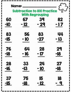 2nd grade math worksheet subtraction second grade st s day math activity set common