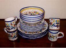 DERUTA POTTERY 16 pcs RICCO DERUTA DINNERWARE SET   eBay