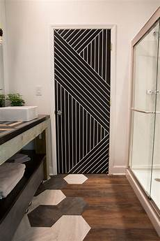 9 ways paint can modernize an outdated bathroom painters tape doors and builder grade