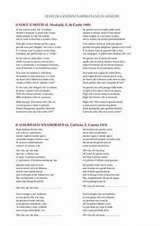 testo la canzone scrivo per te testi di canzoni napoletane classiche