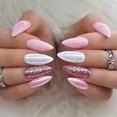 Nägel Glitzer - gel nails trendy designs nail designs nails almond