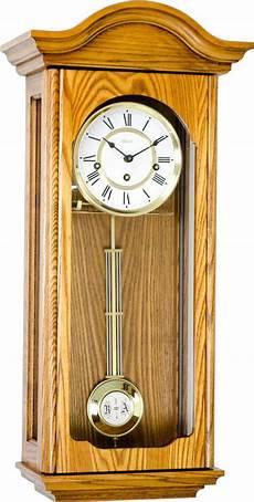 brooke light oak wall clock by hermle wooden case clocks