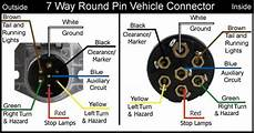 wiring diagram for 7 way trailer and vehicle side connectors etrailer com