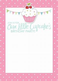 free printable birthday invitation cards templates birthday cup cake invitations free printable