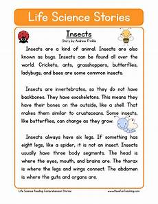 grade 3 science worksheets insects 12532 insects science reading comprehension worksheet