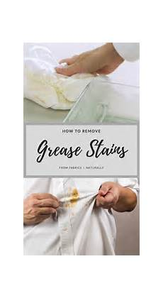 How To Remove Grease Stains From Fabrics Naturally