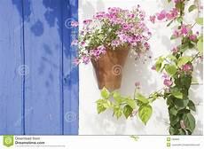 Spanische Blumen Stockfoto Bild Wand Typisch