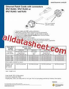 ip67rji45 datasheet pdf itt industries