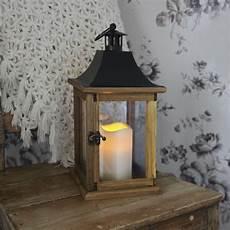lanterne pour terrasse lantern lanterne ext 233 rieur bois bougie led h35cm le